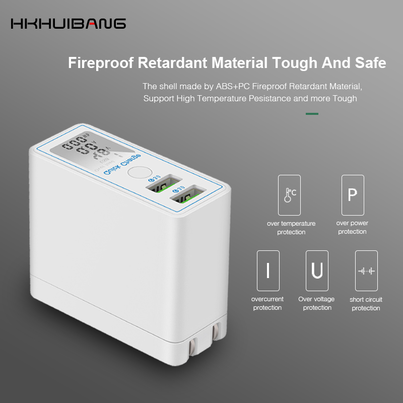Image 5 - HKHUIBANG 36W USB Charger Quick Charge QC 4.0 3.0 Portable Charger For iPhone Samsung Xiaomi Fast Charging Adapter Led Display-in Mobile Phone Chargers from Cellphones & Telecommunications
