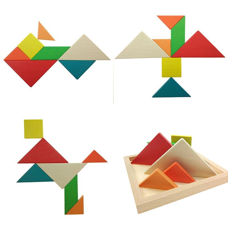 Howplay дети Паззлы деревянный Игрушечные лошадки деревянные геометрические Форма образования детей Игрушечные лошадки головоломки