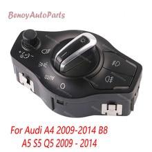 цена на 8K0941531AS For Audi A4 2009-2014 B8 S4 A5 S5 Q5 2009 2010 20011 2012 2013 2014 Chrome AUTO Headlight Fog Light Switch Control