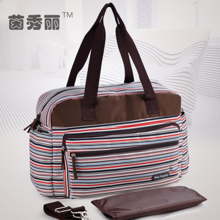 New Style Free Shipping Antimicrobial Baby Diaper Bags Retro Nappy Bags Convenient Mummy Bags