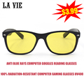 LA VIE Computer Eyewear glasses Anti Blue Rays Computer Goggles Reading Glasses 100% Radiation-resistant Computer Gaming Glasses