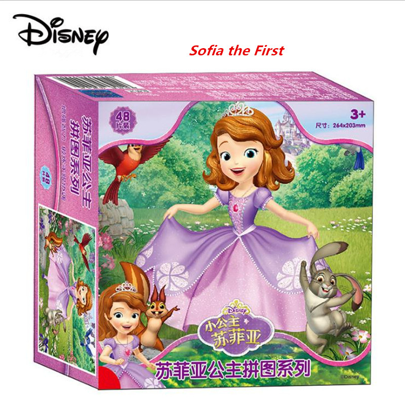 Toys & Hobbies Puzzles & Games Disney Princess Kids Puzzle Wood Jigsaw 48/60pcs Early Educational Cartoon Toys For Children Paper Flat Jigsaw Toy High Quality