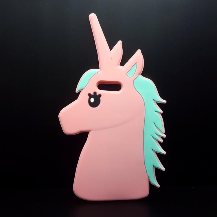 "HTB1yH80OpXXXXaiaFXXq6xXFXXXU - Fashion 3D Cute Cartoon Unicorn Soft Silicon Rubber Case Cover For iPhone 4 4s 5 5s SE 6 7 6s plus 7 plus 4.7/5.5"" White Horse"
