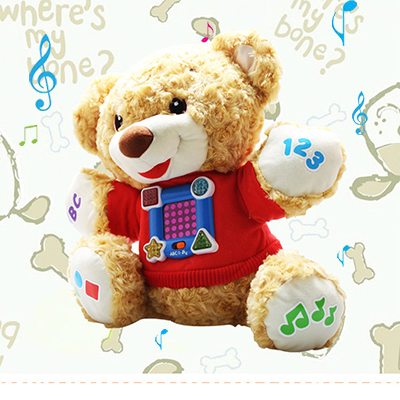 Soft English Speaking Education Teddy Bear Musical Plush Dolls Mobile Musical Baby Toys Kawaii Antistress Electric Kid Toy BF036 lego education 9689 простые механизмы