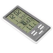 ЖК-дисплей цифровой термометр-гигрометр Температура измеритель влажности Часы крытый и открытый Применение с проводной внешний Сенсор