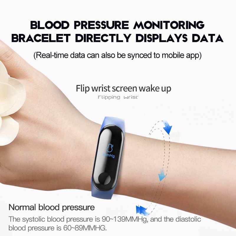 Image 3 - VTIN M3 Smart Band Fitness Bracelet Blood Pressure Blood Oxygen Monitor Smart Watch Waterproof Colorful Screen Sport Watch-in Smart Wristbands from Consumer Electronics