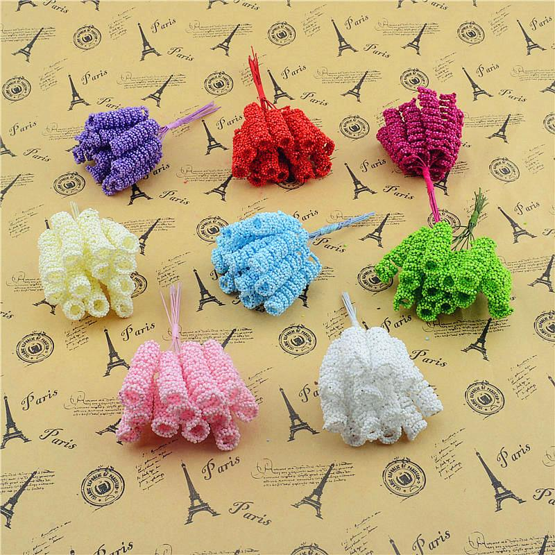 New 24pcs/lot 4cm Foam Flower Bouquet Artificial Flowers DIY craft flower Free shipping