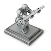 Desktop Room Figurine Executive Soldier Knight Pen Stand Holder Home Office Decoration Pen Seat Desk Armor Hero Stand Decorate