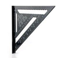 12 Pollice Nero Triangolo Righello Per La Lavorazione Del Legno Strumento di Misurazione Rapida Leggere Piazza Layout Strumento P20