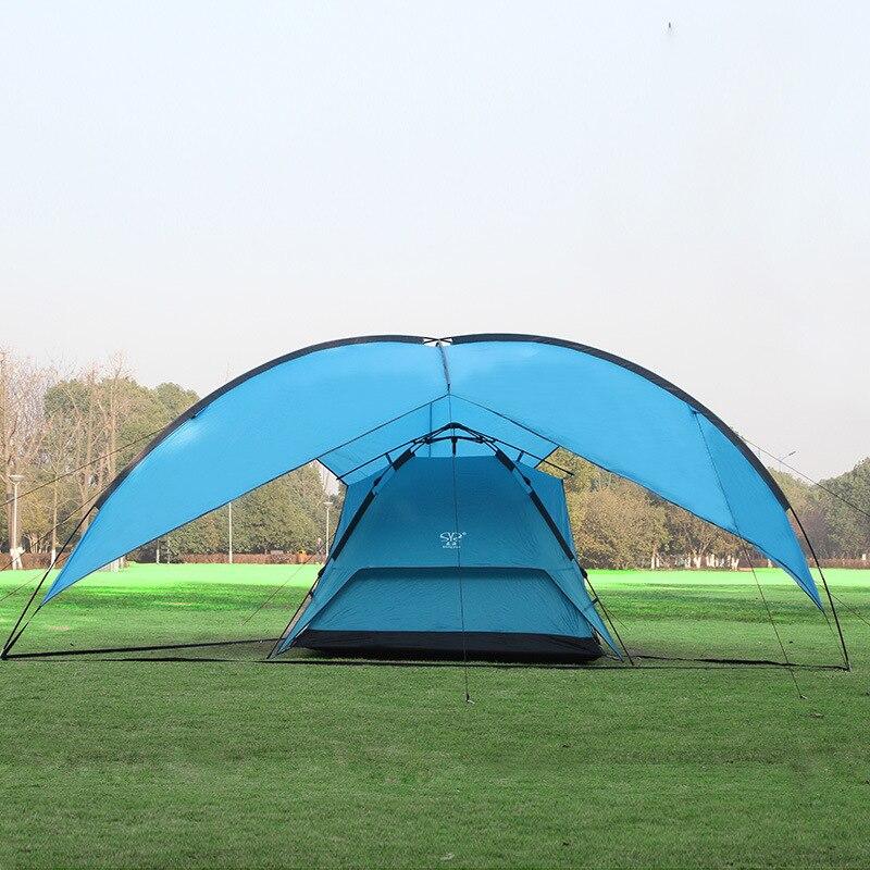 480*480*480*200 cm auvent étanche énorme abri solaire auvent bivvy plage pergola pêche en plein air camping tente