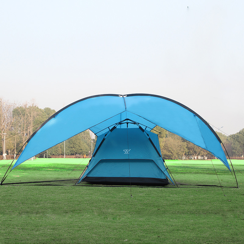 480*480*480*200cm waterproof canopy huge sun shelter bivvy awning beach pergola fishing outdoor camping tent outdoor folding portable 480 480 480 200cm large space hexagon atrium waterproof beach tent camping hiking sun shelter awning