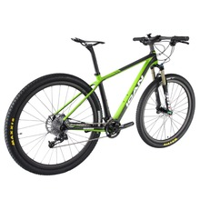 2016 ican design 29er carbon bike full carbon 29 mountain bike high grade completed mtb bicycle green color size 16/18/20 X6