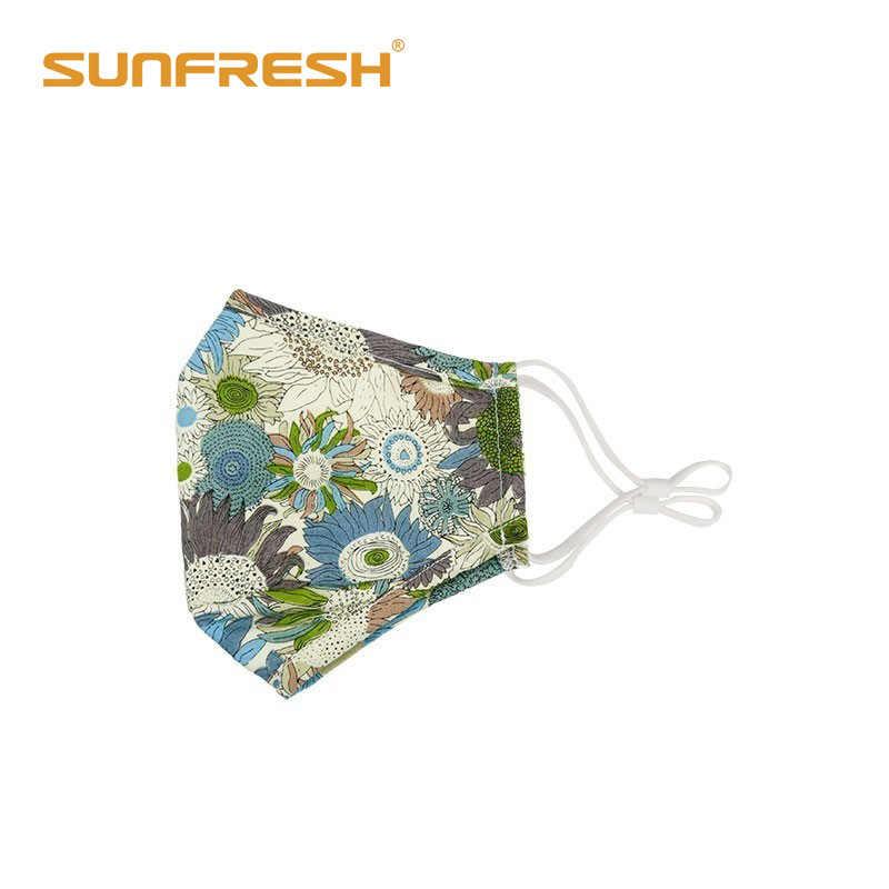 متعددة اللون مكافحة العث الأزياء نمط المهنية الفم الوجه قناع قابل للغسل القطن maske واقية من الشمس التلوث التنفيس الغبار قناع