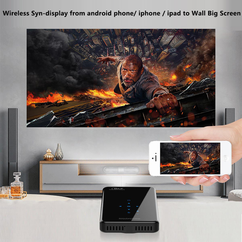 Image 4 - SmartIdea X2 Android7.1 mini phone projector 200lumen 5G wifi bluetooth battery for 3hours play touch keys HDMI in 1080P Beamer-in LCD Projectors from Consumer Electronics