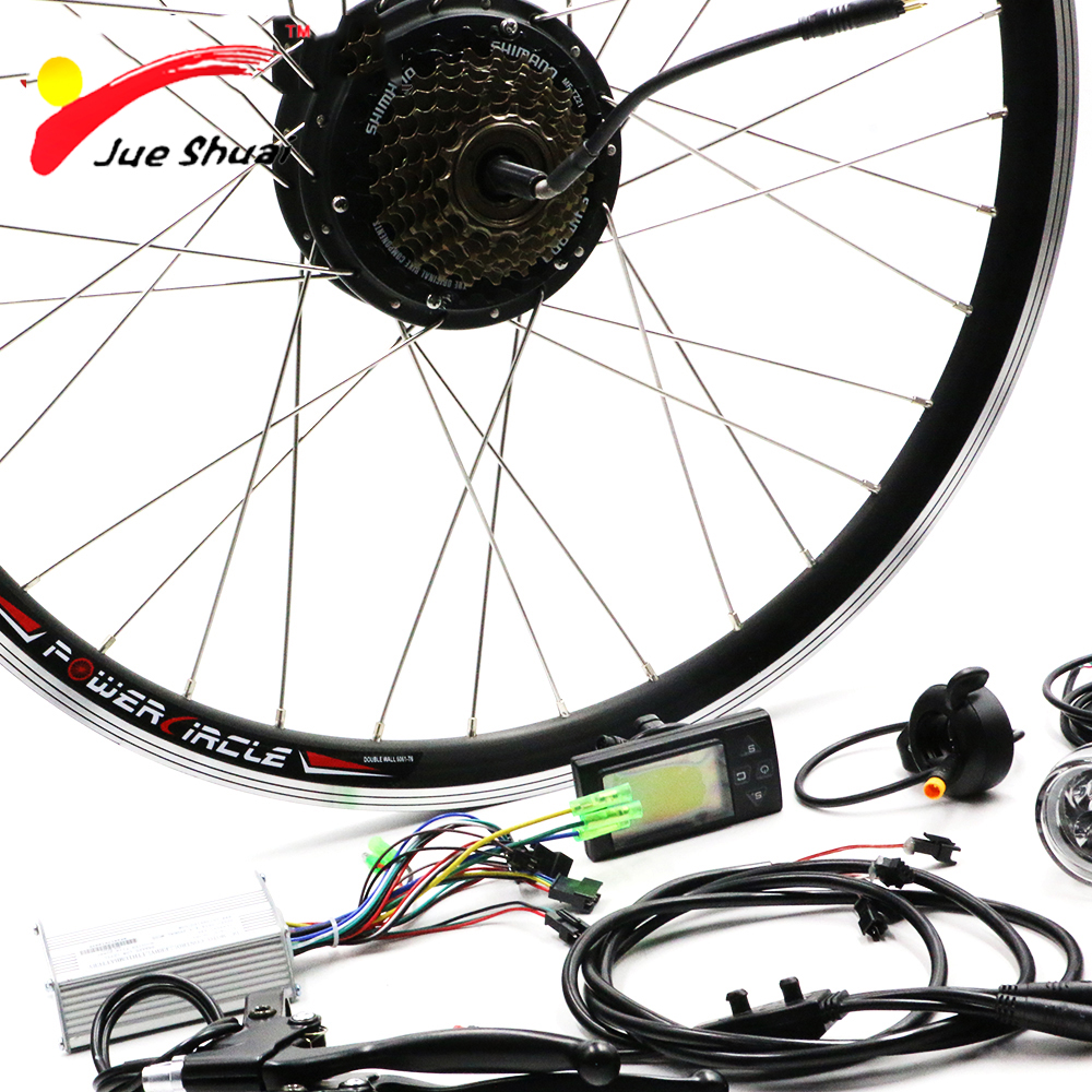 36V 250W Rear Hub Motor Electric Bicycle Conversion Kit LED Display Electric Bike Motor 36V for Ebike LCD e-bike Kit No Battery kt ble01 bluetooth ios app with bluetooth module replacing lcd display for elctric bike electric bicycle ebike conversion kit