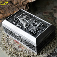 Zipi New Retro European style Korean princess jewelry box ancient Egyptian metal jewelry ring storage box jewelry box Gifts