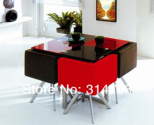 Modern Design Dining Sets Glass Dining Table With Powder