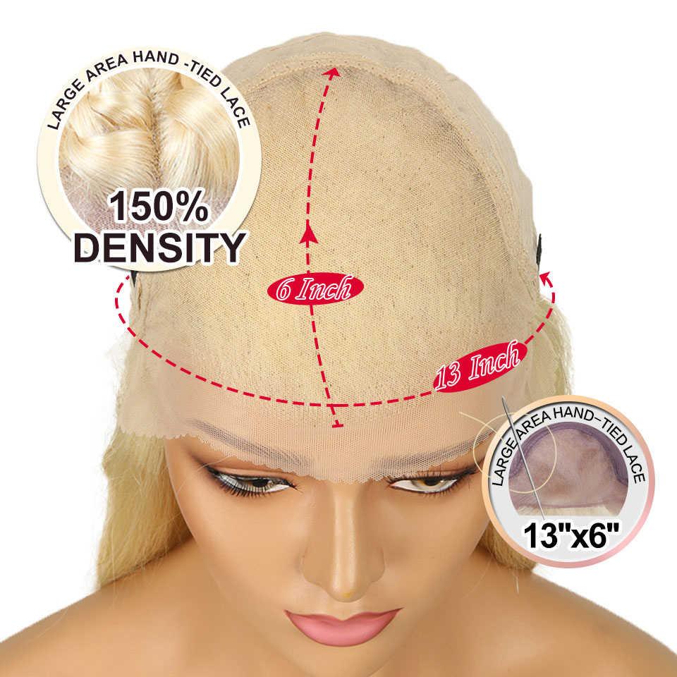 Sleek 13x6 Синтетические волосы на кружеве парики из натуральных волос на кружевной основе 613 Мёд блондинка Синтетические волосы на кружеве парик прямая шнуровка, парики бразильский парик из натуральных волос Для чернокожих Для женщин