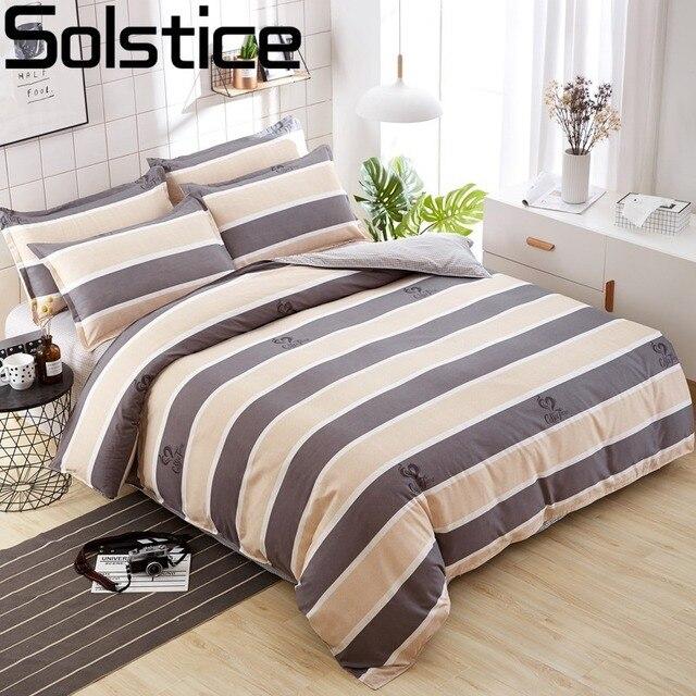 Solstice модные Цвет смешивать и сочетать хлопок Постельное белье кровать Простыни Набор пододеяльников для пуховых одеял наволочка 4 шт. Комбинации покрывало постельное белье