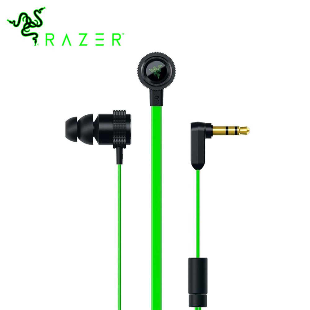 Razer Hammerhead V2 Earphones Flat Style 1 3m Cables 10mm Drivers Gaming Earphone Noise Cancelling Earbud