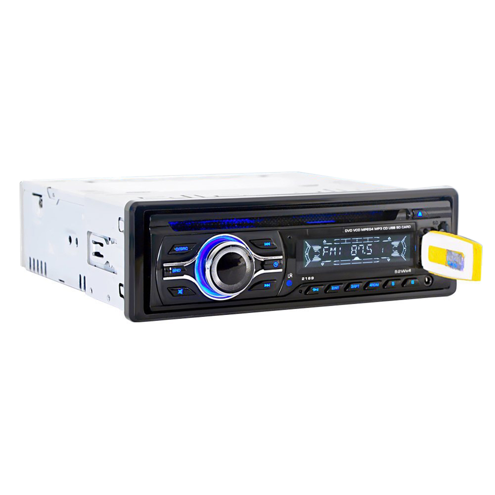 цена на Car Stereo Radio Player 1 DIN Universal Car CD DVD MP3 Player with In-Dash FM Aux Input SD/USB Port Car Stereo System