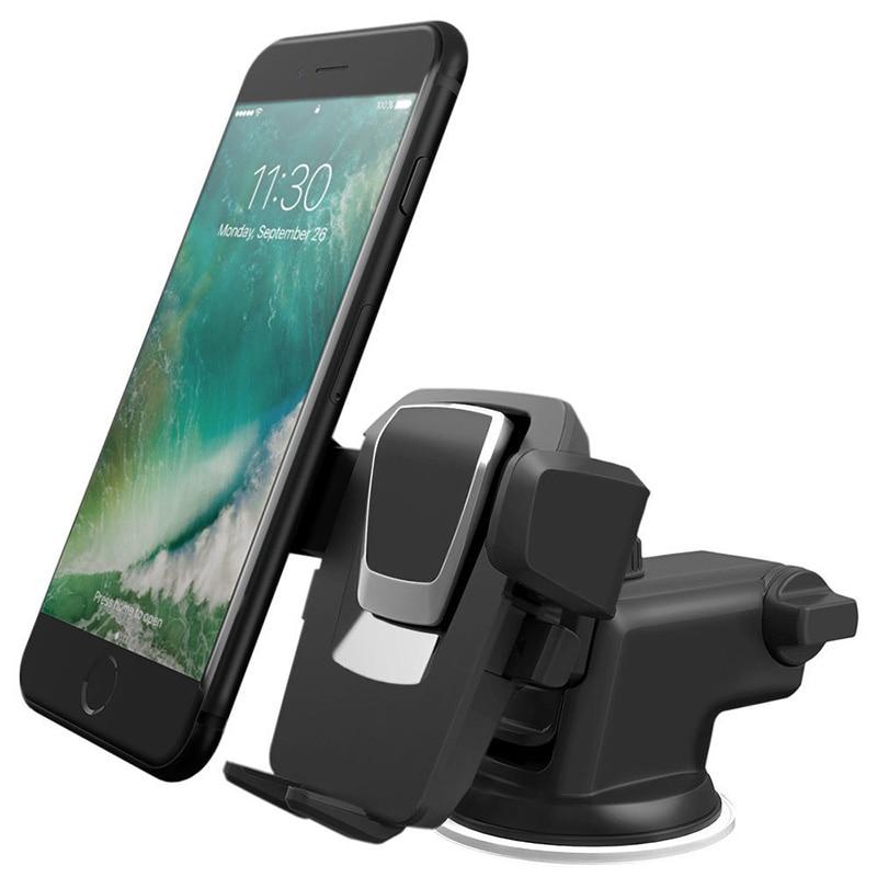 Braccio telescopico Cellulare Supporto Del Telefono Dell'automobile di Montaggio 360 di Rotazione Regolabile Staffa Universale Per il iphone Samsung Huawei Xiaomi