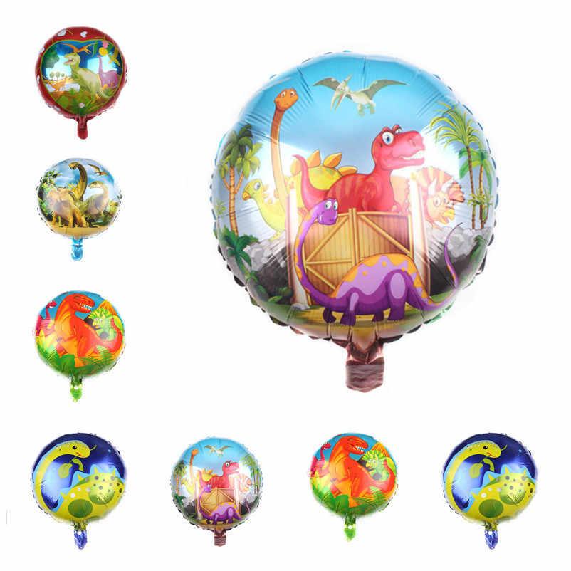 18inch dinosauro Flamingo Sirena Aerostati della Stagnola Air elio globos Del Capretto unicorno Baloons Happy Decorazioni Festa di Compleanno Forniture