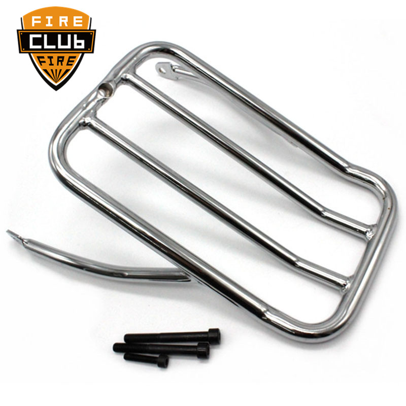 Chrome Motorcycle Rear Fender Luggage Shelf Rack Case  For Harley XL1200N XL1200V XL1200X 2007-up XL883N 2009-Later