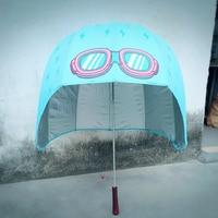 Helmet High Quality Umbrella Long Handle Kids Plastic Head Umbrella Cartoon Sun Rain Paraguas Infantil Parasols Supplies 50RR326