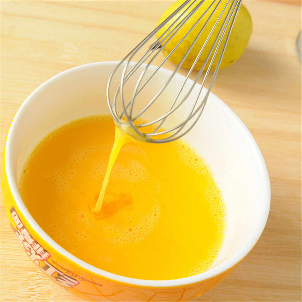 1pc 27*6 centímetros Batedor de Ovos de Aço Inoxidável Misturador Batedor de Mão Ferramentas Da Cozinha