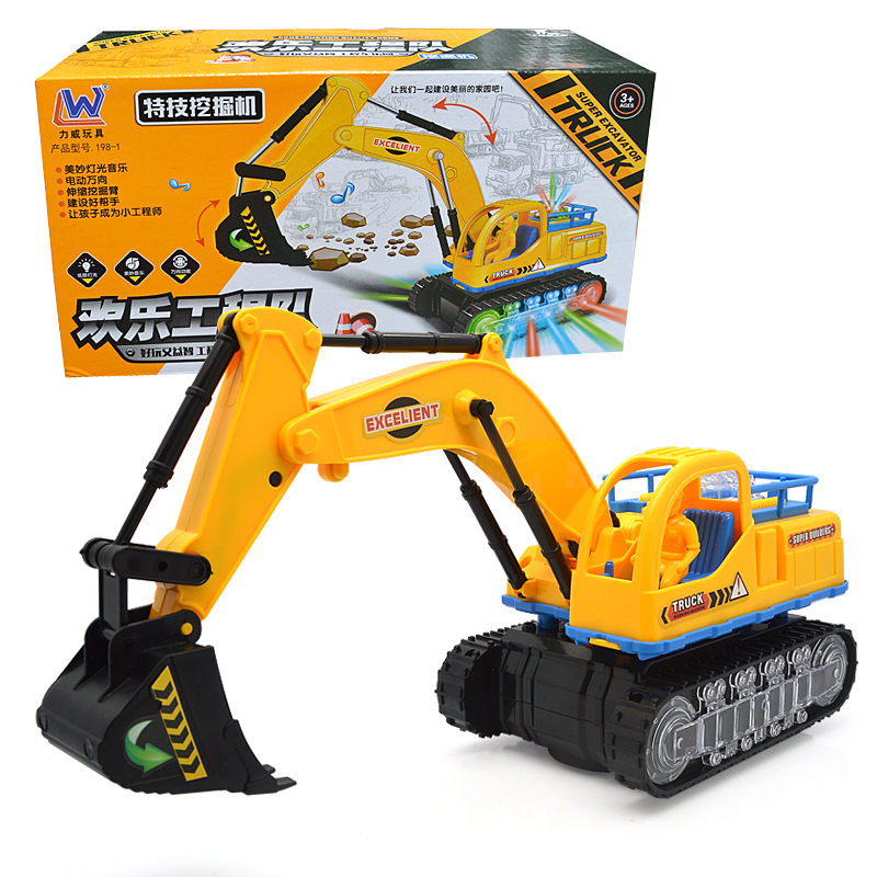 Electric toys engineering truck excavator car boy toys car electric bulldozer kids Model Vehicle toy gifts