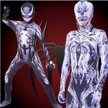 Venom Spiderman Cosplay Costume Zentai Spider Man Superhero Bodysuit Suit Jumpsuits Anime Kids Jumpsuit