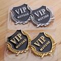 2pcs/lot 3D Metal Car-Styling VIP Emblem Stickers For BMW Audi VW KIA Toyota Ford Nissan Mazda Chevrolet Stickers Accessories