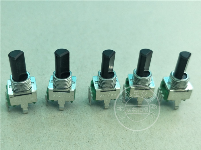 4pcs For ALPHA RV09AF 09 Vertical Single Potentiometer C1K B50K B100K A500K / Handle With Thread Length 16MM