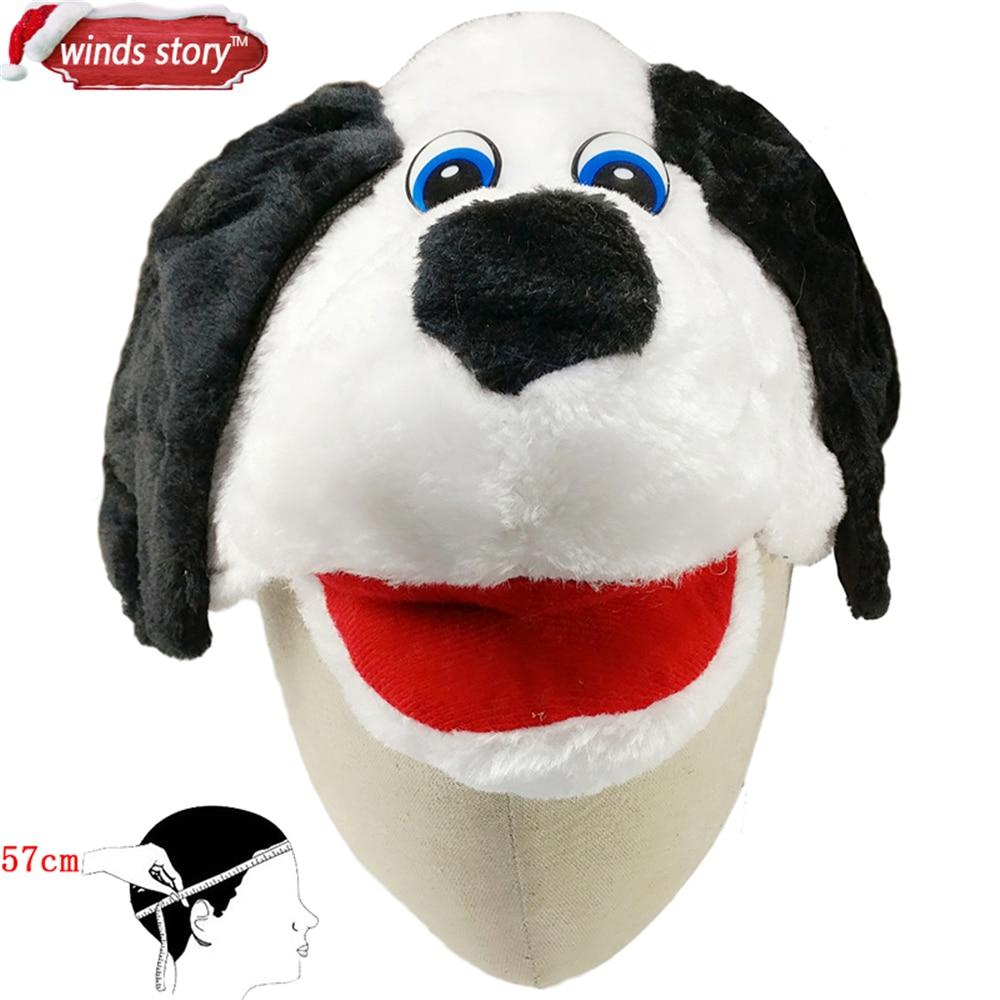 NUEVO 1 UNIDS Cartoon Animal Hat Fluffy Felpa Gorra Orejera Unisex - Para fiestas y celebraciones - foto 5