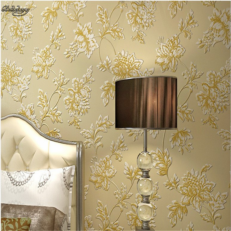 beibehang Non woven wallpaper European pastoral warm living room wallpaper living room wallpaper 3D non woven bubble butterfly wallpaper design modern pastoral flock 3d circle wall paper for living room background walls 10m roll