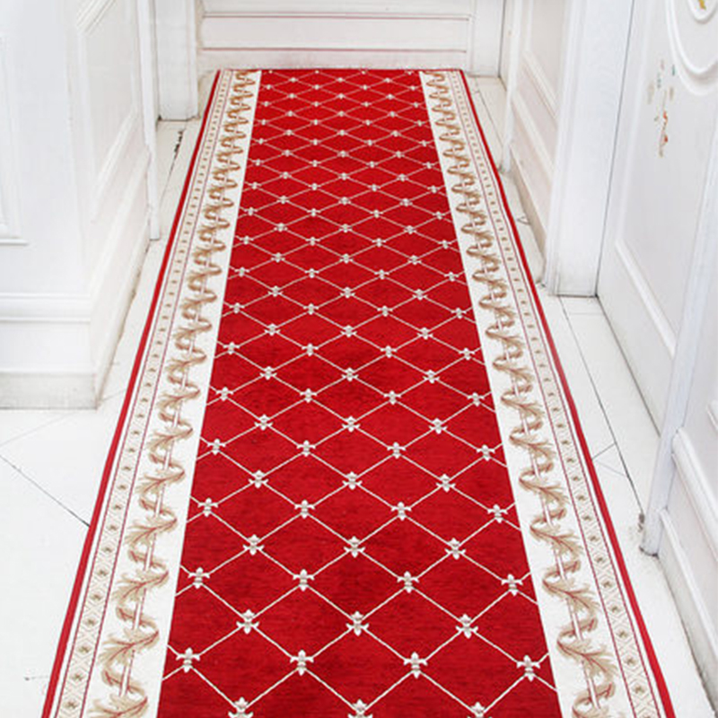 Nordic Red Hallway Carpet Area Rugs Bedroom Living Room Floor Mats Stair Carpet Mat Home Hotel Decor Carpets Custom Made
