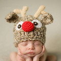 0-12 Months Newborn Baby Christmas Photography Crochet Baby Boys Girls Beanies Hat Cap Witner Cotton Toca Infantil Photo Props