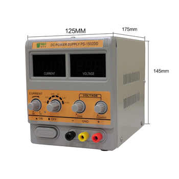 1502DD BEST Mobile Phone Repair Dedicated Power Supply Adjustable Power Supply 15V2A High-Precision DC Stabilized Voltage Source