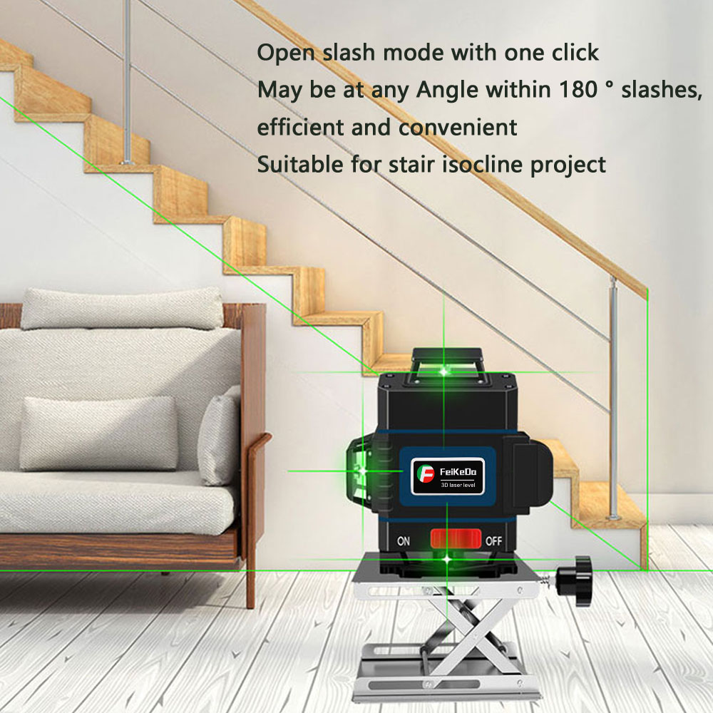 Tools : Professional 16 Line 4D laser level 360 Vertical And Horizontal Laser Level Self-leveling Cross Line 4D Laser Level with outdoor