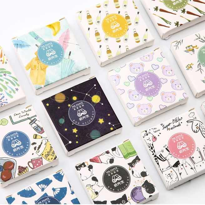 40pcs/pack Fashion Summer Paper Sticker Album Diy Diary Sticker Handbook Decoration Label Scrapbooking Sticker Label