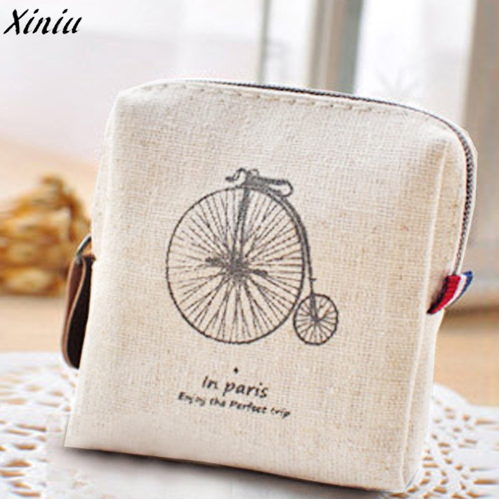 Classic Lightweight Retro Canvas Purse Wallet Card Key Coin Bag Pouch Case multifunctional durable  fashionable portable wallet
