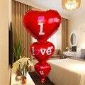 Воздушные шары «I Love U», красное украшение в виде сердца для Дня Святого Валентина, для свадьбы, юбилея, Гелиевый шар, подарок на день рождения