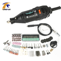 Tungfull Electric Drill 220V Engraver Rotary Tool Polishing Engraving Drilling Cutting Rotary Tool Engraver Woodworking