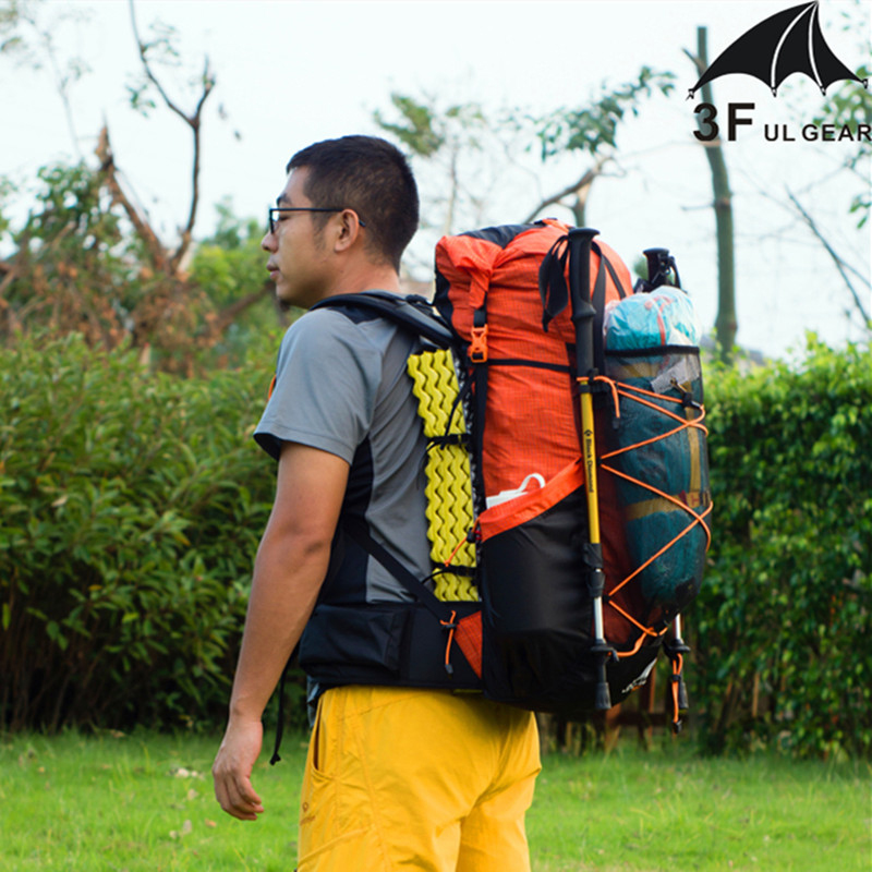 3F UL Gear Backpack Camping Hiking Water-resistant Trekking Bag Lightweight Travel Sports Bag Mountaineering Rucksacks 40+16L