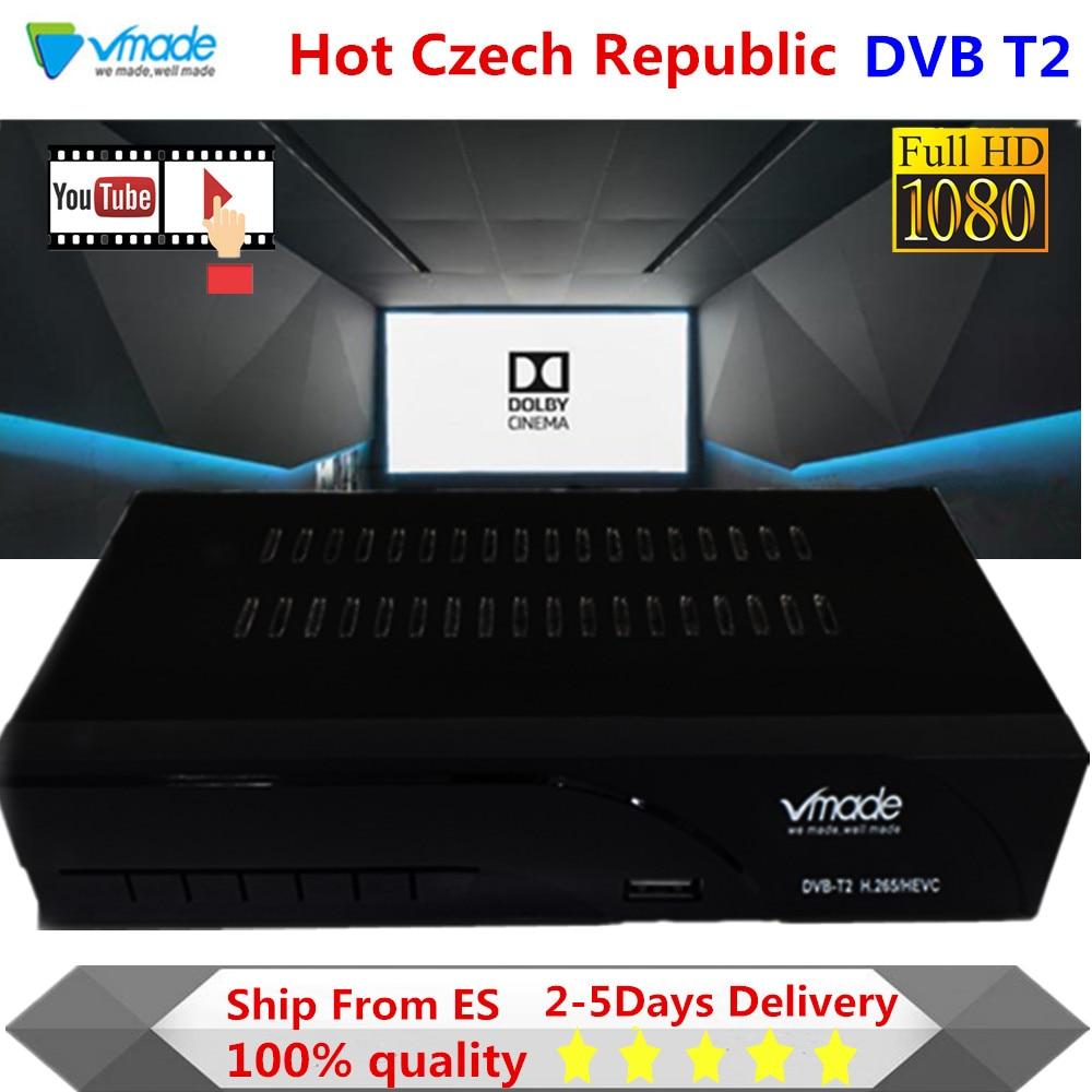 Récepteur de Signal DVB-T2 de TV Full HD DVB-T récepteur numérique terrestre DVB T2 H.265/HEVC Tuner avec Support RJ45 Dolby AC3