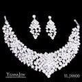 Estilo Vintage magnífico Shining Crystal Rhinestone Collar Pendientes Joyería Nupcial Wedding Sets 8800 african jewelry set
