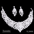 Gorgeous Vintage Style Shining Crystal Rhinestone Necklace Earrings Bridal Wedding Jewelry Sets 8800  african jewelry set