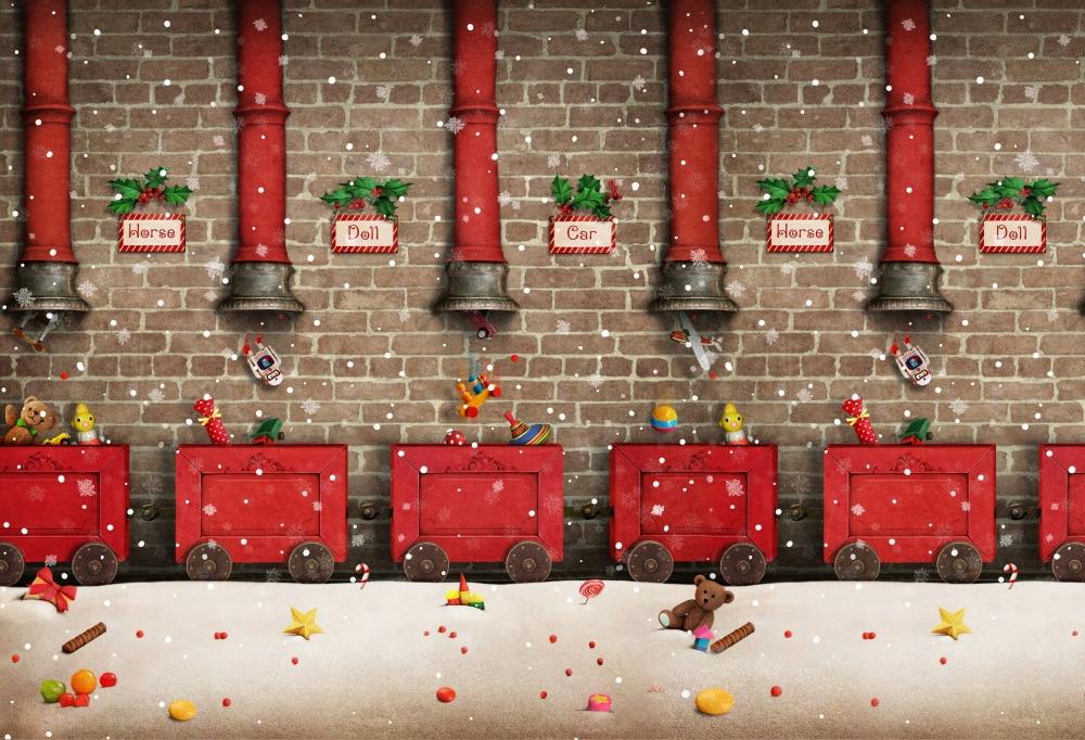 HUAYI Photography Backdrops Christmas Backdrop Decorations Studio Photo Prop Kids Backgrounds XT-6254 5 6 5ft custom backgrounds photography backdrops cake colorful cute birthday photography backgrounds digital printing backdrops