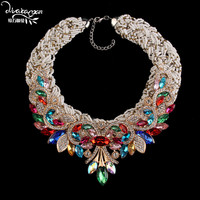 Dvacaman Brand 2017 Bohemian Ethnic Beads Chain Statement Necklace&Pendant Crystal Chokers Collar Jewelry Bijoux Wholesale V69